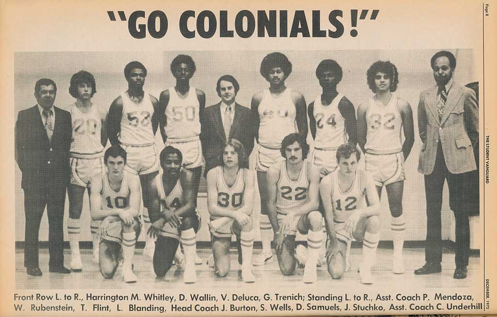 Community College of Philadelphia 1972 Men's Basketball team photo
