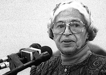 Rosa Parks speaking at Community College of Philadelphia