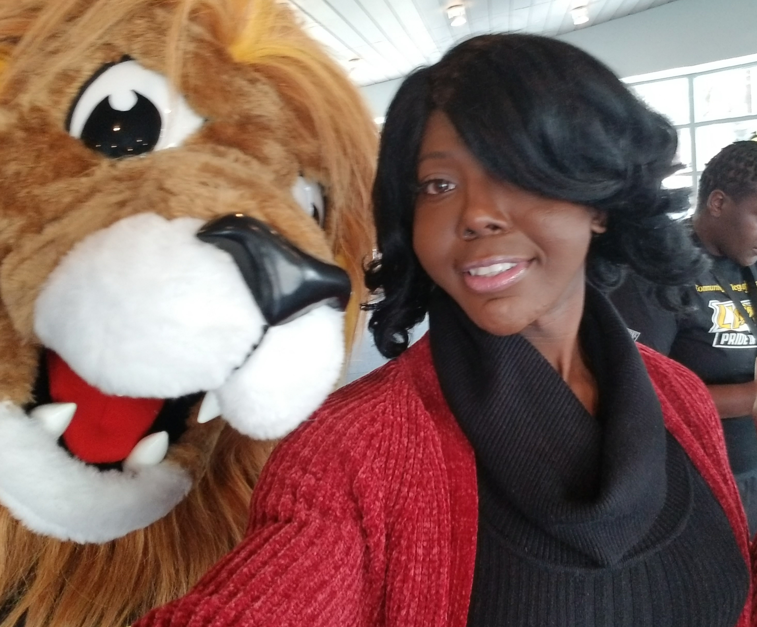 Kendall Stephens with Roary