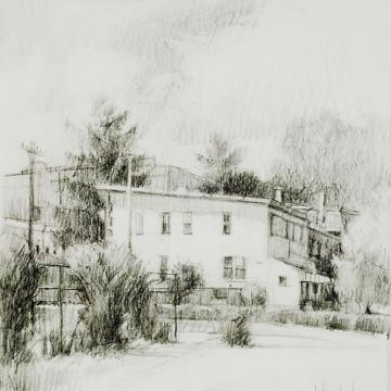 Jeffrey Reed White House, 2002 Graphite — 9H x 8.5W Gift of the artist