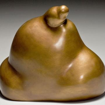 "Mei-ling Hom Golden Mountain, 2000 Bronze — 8""H x 8""D"