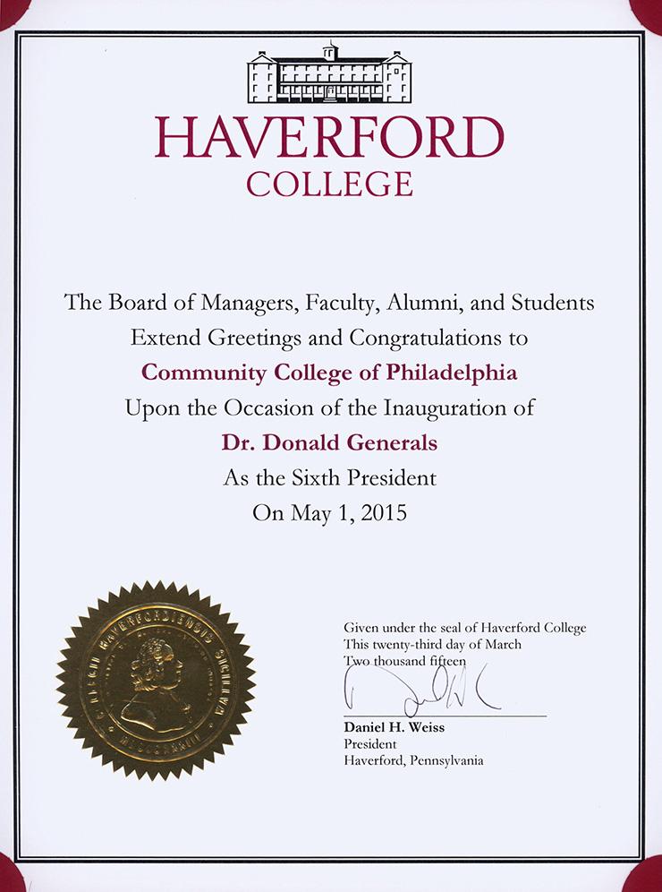 Congratulate Dr Generals Community College Of Philadelphia
