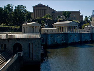 boat house row and art museum exterior photo