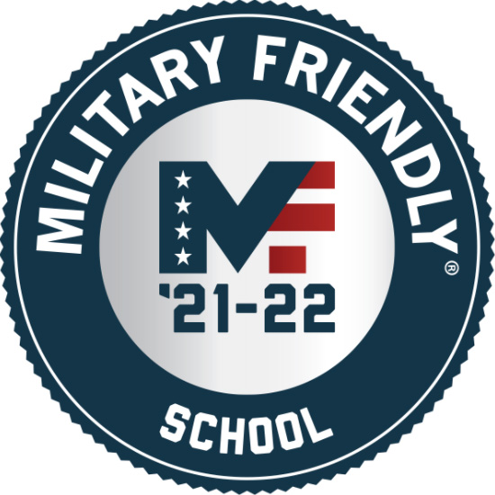 Logos for the Military Advance Education and Military Friendly School