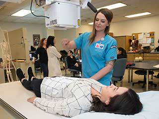 Students in the Diagnostic Medical Imaging program