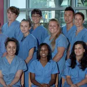 Nursing students posed for picture