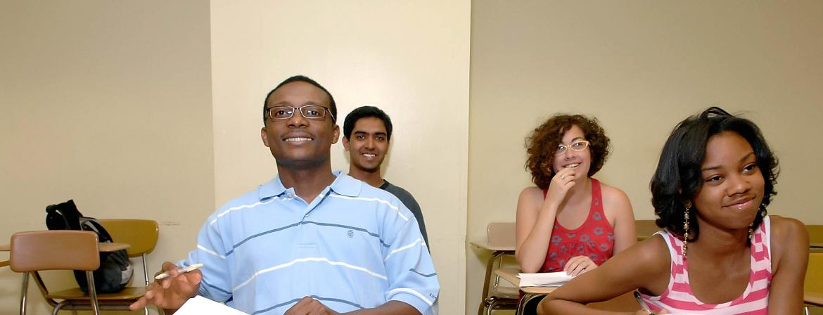 Students in class at Community College of Philadelphia.