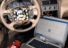 Automobile and laptop at Community College of Philadelphia.