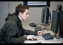 CCP student working on computer.