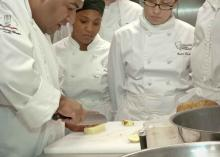 Students learning about culinary arts at CCP.