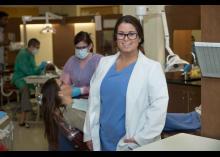 Student in Dental Hygiene program at Community College of Philadelphia.