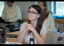 Student listening in an entrepreneurship class at CCP.