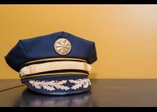 Uniform hat in Fire Science program at CCP.