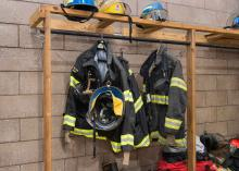 Fire uniform gear in Fire Science program at CCP.