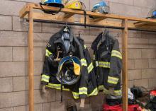 Fire uniform gear in Fire Science program at CCP.