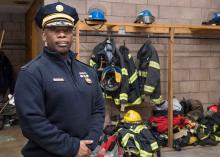 Fire professional in Fire Science program at CCP.