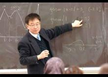 Professor teaching math in class at CCP.