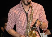 Jazz graduation from CCP playing sax.