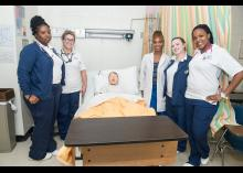 Nursing students in the classroom.