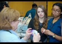 Respiratory Care Technology students learning in class at Community College of Philadelphia.