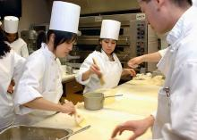 CCP student learning in Culinary Arts program.