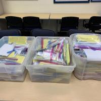 Nursing equipment being prepared for donation