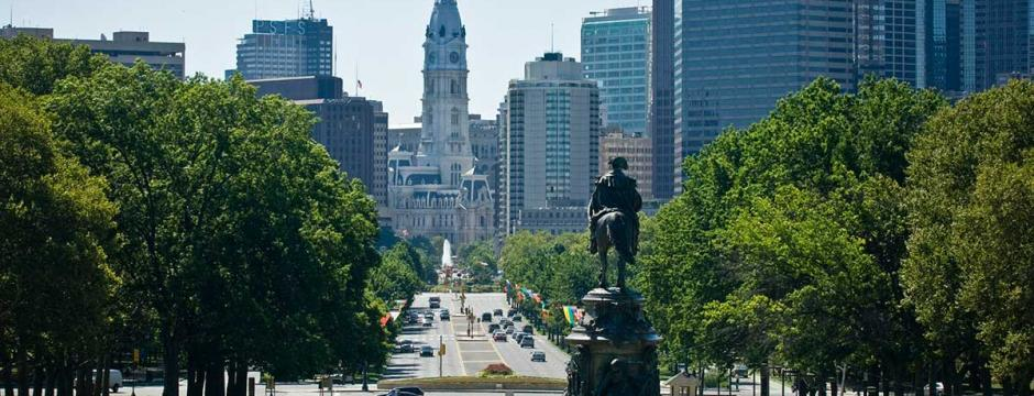 Benjamin Franklin Parkway in Philadelphia.
