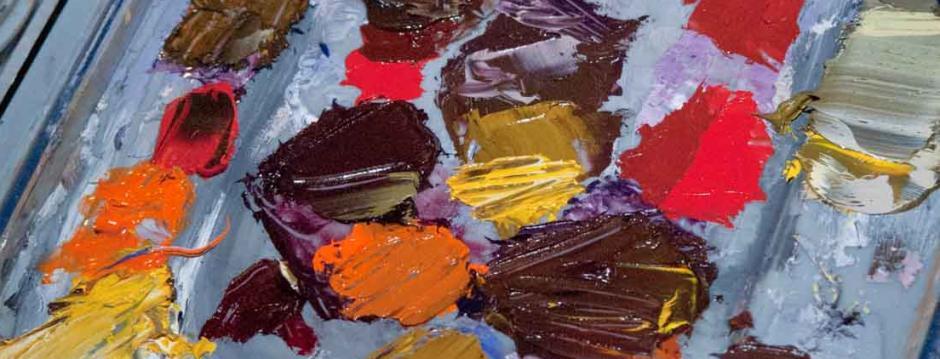 Artist paint pallet