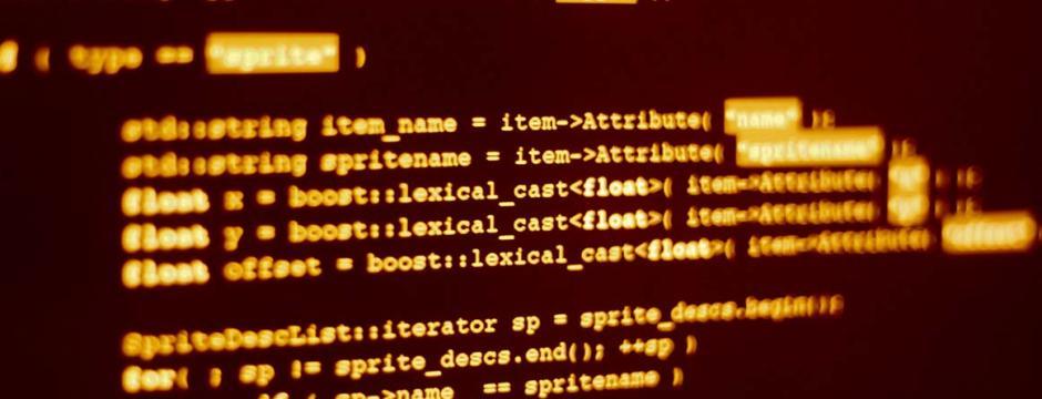 Computer screen at CCP.