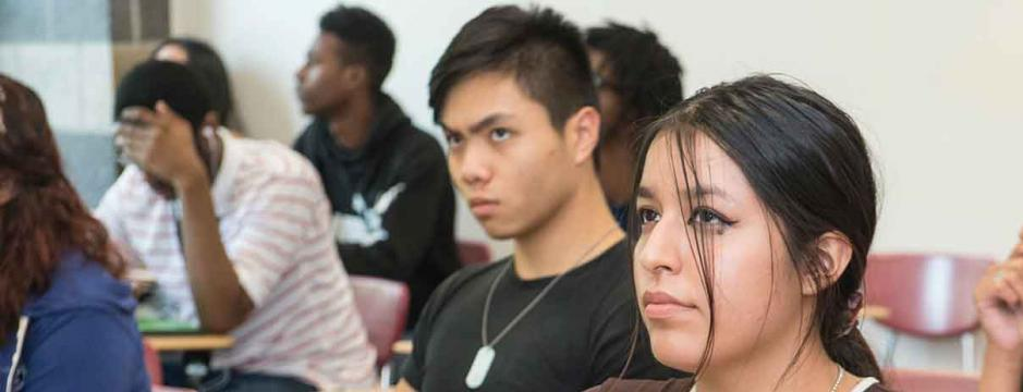 Students in an honors Liberal Arts class at CCP.