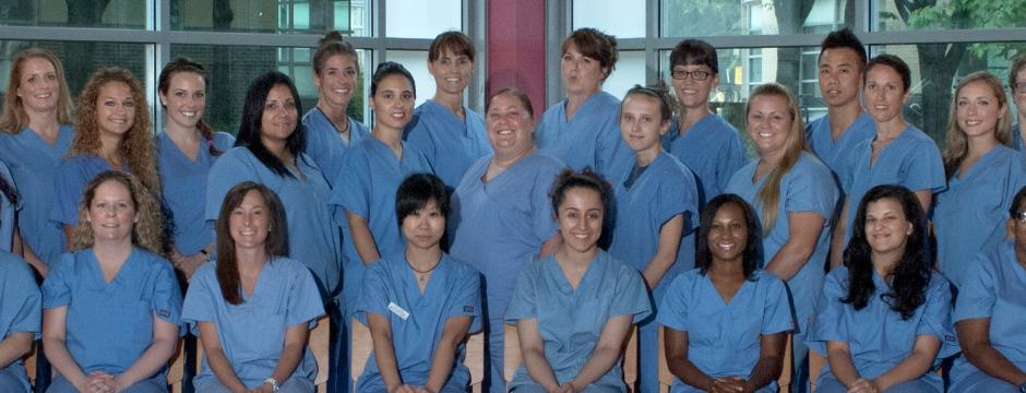Nursing students in the Health Care studies at Community College of Philadelphia.